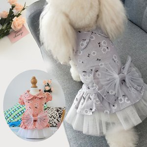 Straight Pet Clothes 2021 Spring and New Dog Dress Thin Summer Princess Puffy Skirt U8US