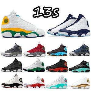13 13s Dark Powder Blue Mens Basketball Shoes Sneakers Gold Glitter Altitude Starfish Flint Chicago Island Lucky Green Hyper Royal DMP Men Women Sports Trainers