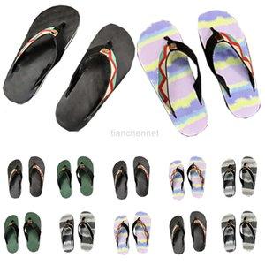 Slipper men shoes luxurys sandálias mulheres designers de moda plana slides flip flops paris verão praia sexy blatchers de couro bordado com