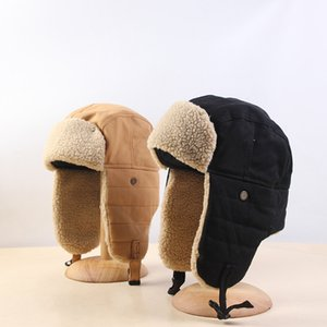 Warm Bomber Hats Earflap Russian Hat Men Women Ear Flap Winter Hat Windproof Cycling Skiing Winter Snow Hats