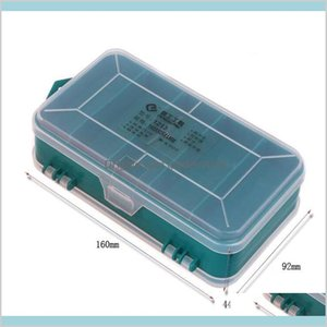 Tool Box Tools Packaging Home & Garden Multifunction Double-Side Plastic Portable Jewelry Container Ring Electronic Parts Screw Beads