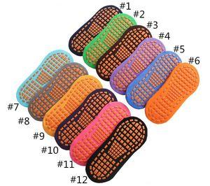 non-Slip Yoga Socks Professional Indoor Yoga Sport Socks for women men Cotton Short Floor footies trampoline sock 12 colors NHF6091
