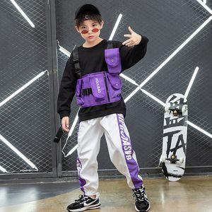 Abbigliamento Set Suit Boys Hip Hop Winter Girls Jazz Performance Dress Hiphop Trend Abbigliamento per bambini