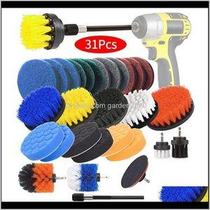 Brushes 22Pcs Electric Set Sponge Power Scrubber Brush Cleaning Kit With Scrub Pads Drill Bit Extender 201214 Nzim8 1Filz