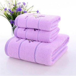 Towels & Robes Cotton Lavender Face Towel Soft Absorbent Romantic Love Baby Women Family Bathroom Gift Bath Accesory 34*74cm Hand