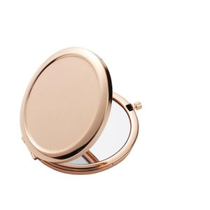 Sublimation Makeup Mirrors Iron 2 Face DIY Blank Plated 4 Colors Aluminum Sheet Girl Gift Cosmetic Compact Mirror Portable Decoration A02