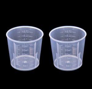 부엌, 홈 정원 드롭 배달 2021 20ml / 30ml / 50ml / 500ml 투명 컵 DIY 베이킹 K를위한 식품 학년 플라스틱 측정 도구