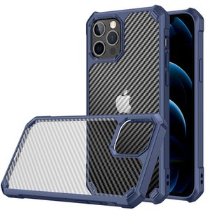 Transparent Shockproof hard cell phone housings for iPhone 11 12 Mini Pro Max bumper cellphone cases accessories