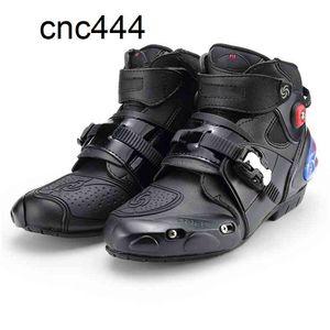 Motocicletas profesionales Racing Motorbike Boots Botas Motocicletas Moto Montar Zapatos Tamaño 40-45 Negro