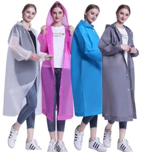Outdoor Non-disposable Thicken raincoats EVA For Adult Man Woman Rain Jacket Fashion With Hat Reusable Raincoat