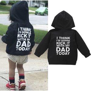 Детское пальто Детская молния с длинным рукавом толстовка с длинным рукавом, монограммой одежды толстовка с капюшоном в возрасте 0-6 осень
