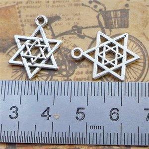16299 50pcs Antigua plata vintage estrella de David Magen David Britchcraft Pendant 1060 Q2