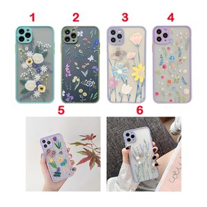 Lady Design Phone Cases For iPhone 12 11 Pro MAX XS XR 8 7 6 Camera Protection Shockproof Case Cover Flower Printing