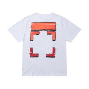 Off Brand Designer Cotton Short Sleeves Couples of Black White T Shirt Mens Top T-shirt Casual Summer Tee Shirt X Printing Tops Shirt