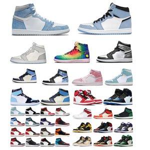 air jordan jordans aj 2021 Gümüş Toe Erkek Basketbol Ayakkabıları 1 1 S Üniversitesi Kadın J Balvin Mavi Işık Duman Gri Chicago Mocha Büküm Gölge Sneakers Boyutu 36-46