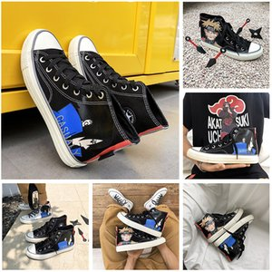 High Gang Fashion Outdoor Casual Shoes Anime Pattern Mens Women Breathable Canvas Trainers Flat Tennis Sneakers EUR 36-44