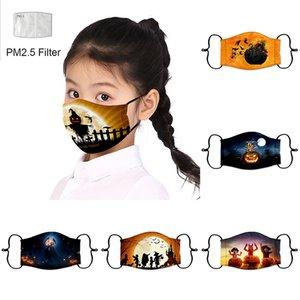 Halloween pumpkin kids designer face mask with filter dust-proof face mask parody cross-border breathable face masks GWB10318