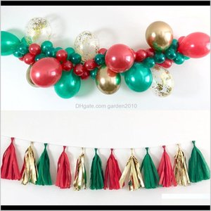 Decorations 102Pcsset Merry Balloons Set Santa Claus Snowman Tree Bell Balloon For Christmas Party Decoration Xmas Supplies 201203 Tfc 7Mx0S