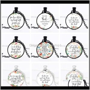 Collectable Athletic Outdoor Accs Sports Outdoors Drop Delivery 2021 Wholesale India Bible Prayer Patterns Necklace Time Gem I Can Do All Thi