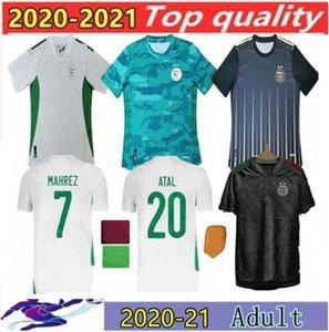 2020 Argélia Mahrez Duas Estrelas Futebol Jerseys 20 21 Atal Slimani Brahimi Home Bennacer Camisas de futebol Maillot de pé uniformes tamanho S-2XL