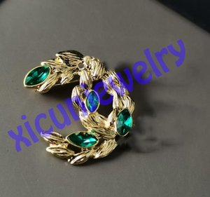 Zero Profit Top Fashion Designer Letter Brooch for Women Gold Plated Brooches Badge Crystal Pin Paris Pins