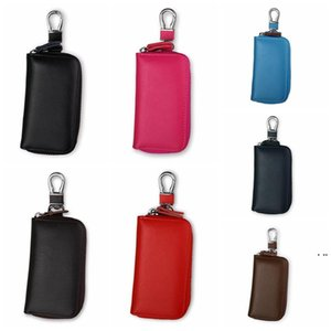Car Key Wallet Case Leather Car Key Chain Zipper Key Case coin Holder keychain Wallet Pouch Purse Unisex Storage Bags HWF6330