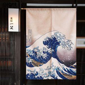Curtain & Drapes Japanese Ukiyo-e Door Living Room Partition Kitchen Japan Home Decor Noren Feng Shui