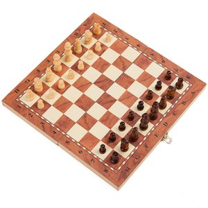 Wooden Chess Set International Chess Entertainment Game Set Folding Board Educational Durable And Wear-resistant Entertainment 33 Z2