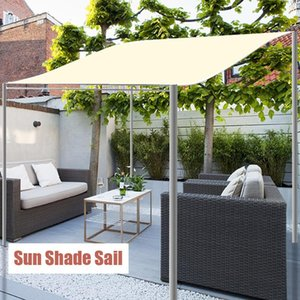 Shade Rectangle Sun Sail Portable Waterproof UV Protection Canvas Shelter For Garden Beach Camping Sails Nets