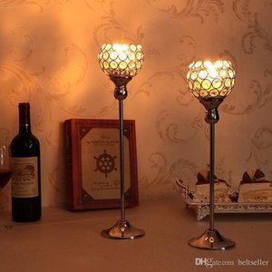 Candle Holders Wedding Table Centerpieces Metal Candelabra Crystal Candlesticks Tealight For House Holiday Decoration Mothers Da