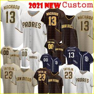13 Manny Machado San Diego Personalizzato Padres Maglie da baseball 23 Fernando Tatis Jr. Jersey Tatís Tony Gwynn Wil Myers Eric Hosmer Mens Donne 2021