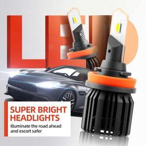 Car Headlights 1pair Headlight H4 H7 H8 H9 H11 9005 9006 Led Bulbs 6000K 8000LM 9V To 36V Auto Headlamps Lights For