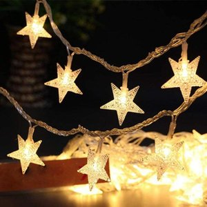 Strings 40 Leds Star Shaped LED Fairy String Lights Garland For Home Kids Bedroom Party Year Christmas Decorations