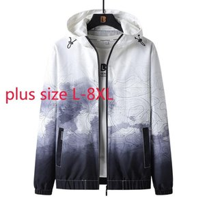 Men's Jackets Arrival Super Large Spring And Autumn Young Men Fashion Casual Camouflage Printed Hooded Jacket Male Plus Size L-6X 7XL 8XL