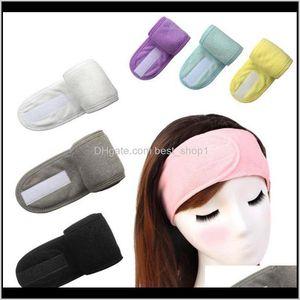 Shower Women Headbands Cosmetic Hair Bands Washing Face Bath Makeup Headband Fashion Head Turban Spa Salon Accessories 8 Colors Gw41S Dd6Fp