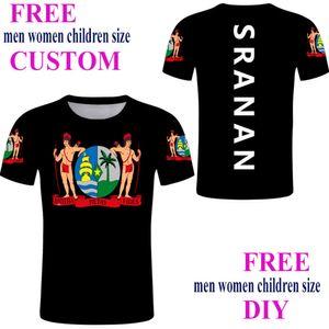 polo Suriname Custom Male Green Cool Streetwear T-shirt Black Sranan Print Sarnam Country Flat clothing