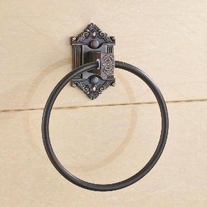Antique Brass Towel Rings Bathroom Accessory Copper Hardware Holder Vintage Ring