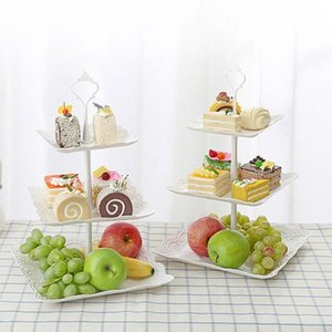 Выпечка тесто инструменты кекс стенд 3 яруса торт десертные блюда для рождественских свадьбы день рождения вечеринка ремесла башня тарелка