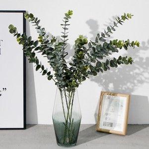 Artificial Plants Soft Plastic Eucalyptus Green Decoration Flowers Plant Home Decor Fake Leaves Wedding Simulation Bonsai