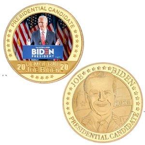 NEWBiden Gold Commemorative Coin 2021 President Biden Commemorative Coin Metal Badge American President Joe Biden Souvenir Coin EWE7612