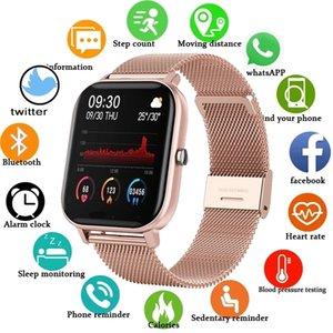 P8 Color Screen Smart Uhr Männer Full Touch Fitness Tracker Blutdruckuhr Frauen für Xiaomi