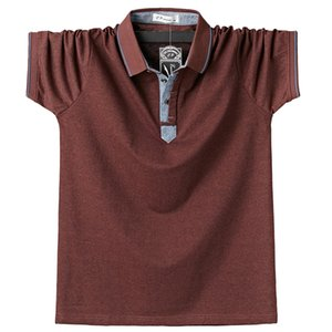 Summer Men Polo Shirt Mens Classic Solid Polos Shirts Cotton 6XL Large Size Casual Fashion Outwear Clothing Tops Tees
