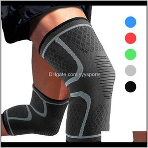 Elbow Pads Safety Athletic Outdoor As & Outdoors Drop Delivery 2021 1Pcs Compression Knee Support Sleeve Protector Gym Sports Elastic Kneepad