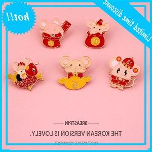 New creative metal Brooch blessing good luck cartoon cute badge bag accessories