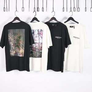 Luxury T-shirts Fog Fear of God Flower Short Sleeve Double Thread 19 Men's and Women's Fashion Hip Hop Loose Summer Bottoming T-shirt