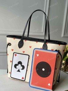 Spiel auf mm Neueste Lederhandtasche Womens Geldbörse Taschen mit Beutel Brieftasche Composite Beach Taschen Einkaufen Clutch Canvas Bag M57483 M57452 M57462