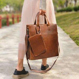 сумка 2021 женская задача старинные магазинные сумки вертикальные композиции случайное плечо документ большая кожаная сумка