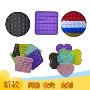 Empurre Brinquedos de Bolha Fidget com Luminous Desktop Matemática Matemática Mental Concentração Aritmética Brinquedos Sensory Game GG31605