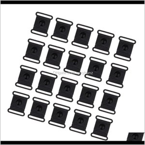 Sewing Notions Tools Apparel Drop Delivery 2021 20 Pieces 152025Mm Black Side Release Buckles Clasps For Webbing Paracord Bracelets Bakpacks