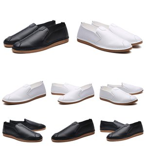 Top Quality Men Women Genuine Leather Fashion Dress Shoes Outdoor Formal Casual Triple Black ALL White No Brand Shoe EUR 38-44